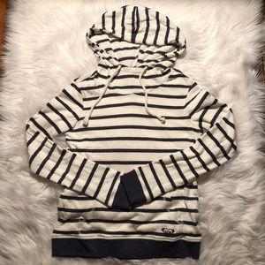 Roxy pullover striped hoodie w/ pocket